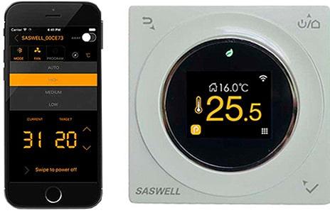 Thermostato para sistema de calefacción WIFI blanco